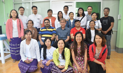 The Team from DOA and RSSD at The Pathein Seed Lab