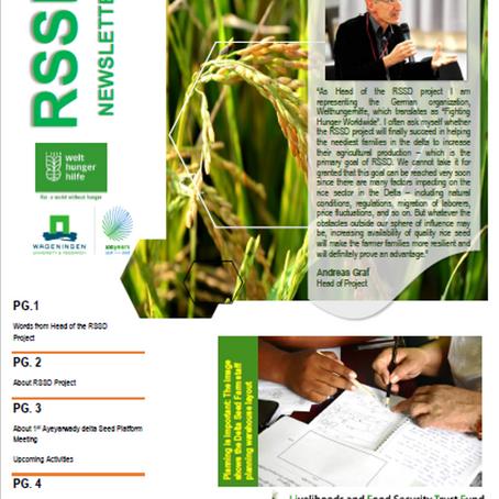 RSSD releases its first Newsletter RSSD၏                ပထမအကြိမ် သတင်းစာစောင်ထွက်ပြီ…