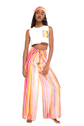 Jambali Pant and Crop Top Set