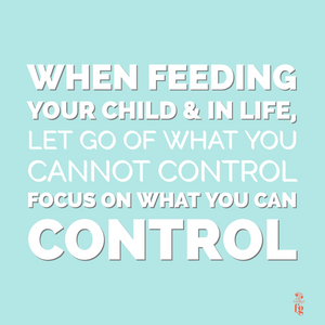 Focus on what you can control at meals