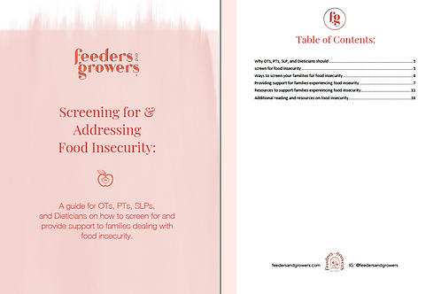 Food Insecurity: Screening & Intervention Guide