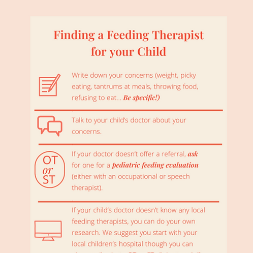 Finding a feeding therapist tool