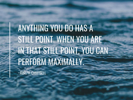 Get still and find your point