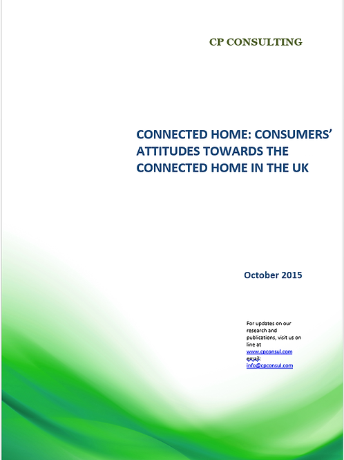 Connected Home: UK Consumers' Attitudes