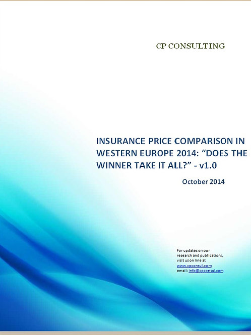 Insurance Price Comparison in Western Europe 2014
