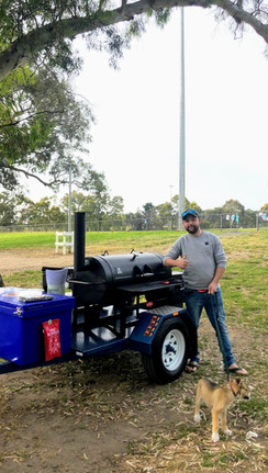 Smoker Trailer out on hire in a Park