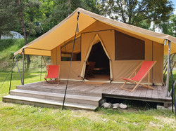Tente Lodge Camping La Fressange