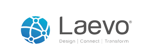 Laevo Blue Horizontal Tag (Transparent).