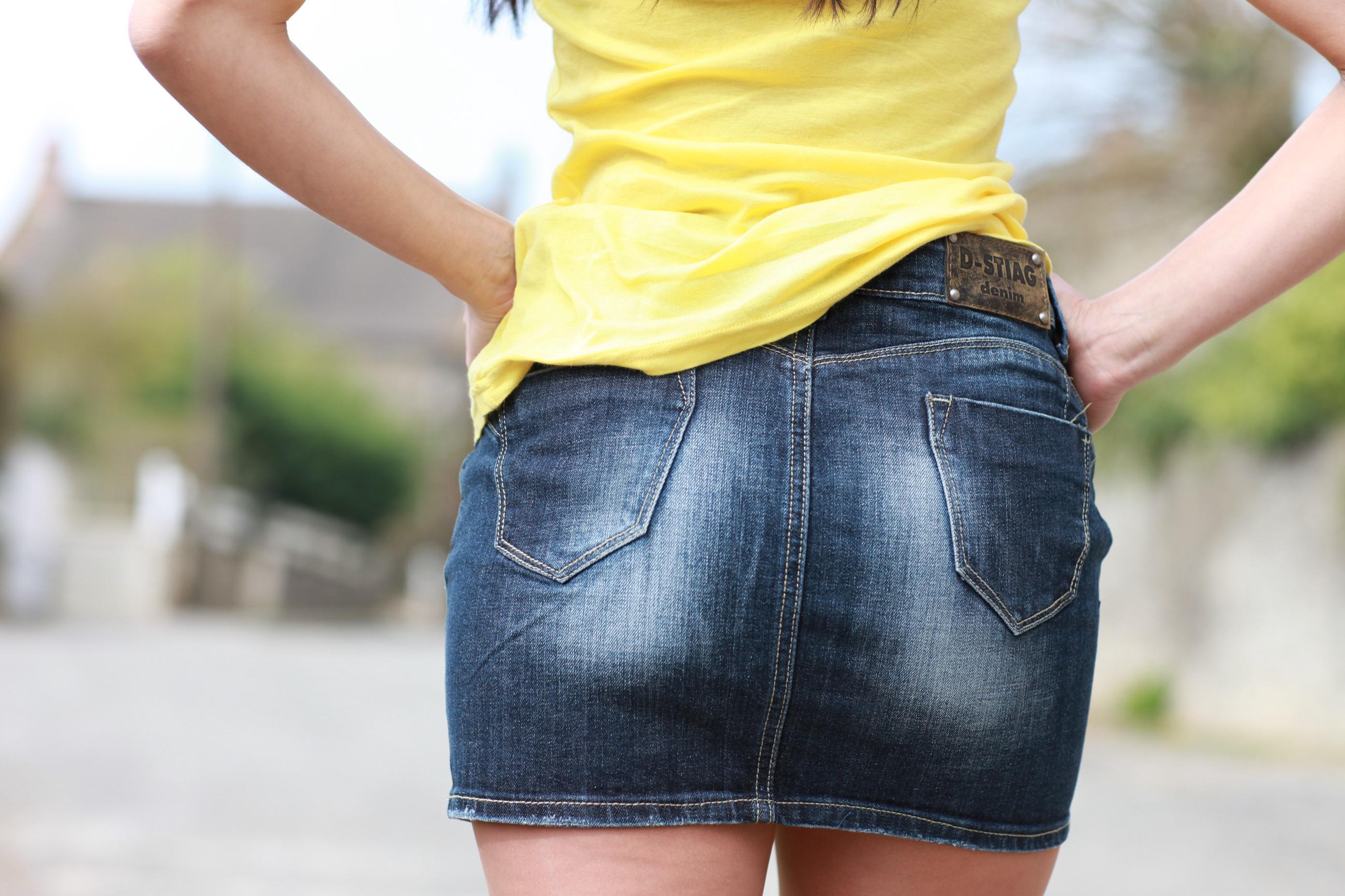 9f0fd04d0f9 Jupe en jean courte jupe fourreau mi longue