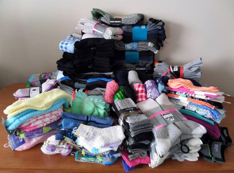 2015 Retreat Wow! We have LOTS of socks!