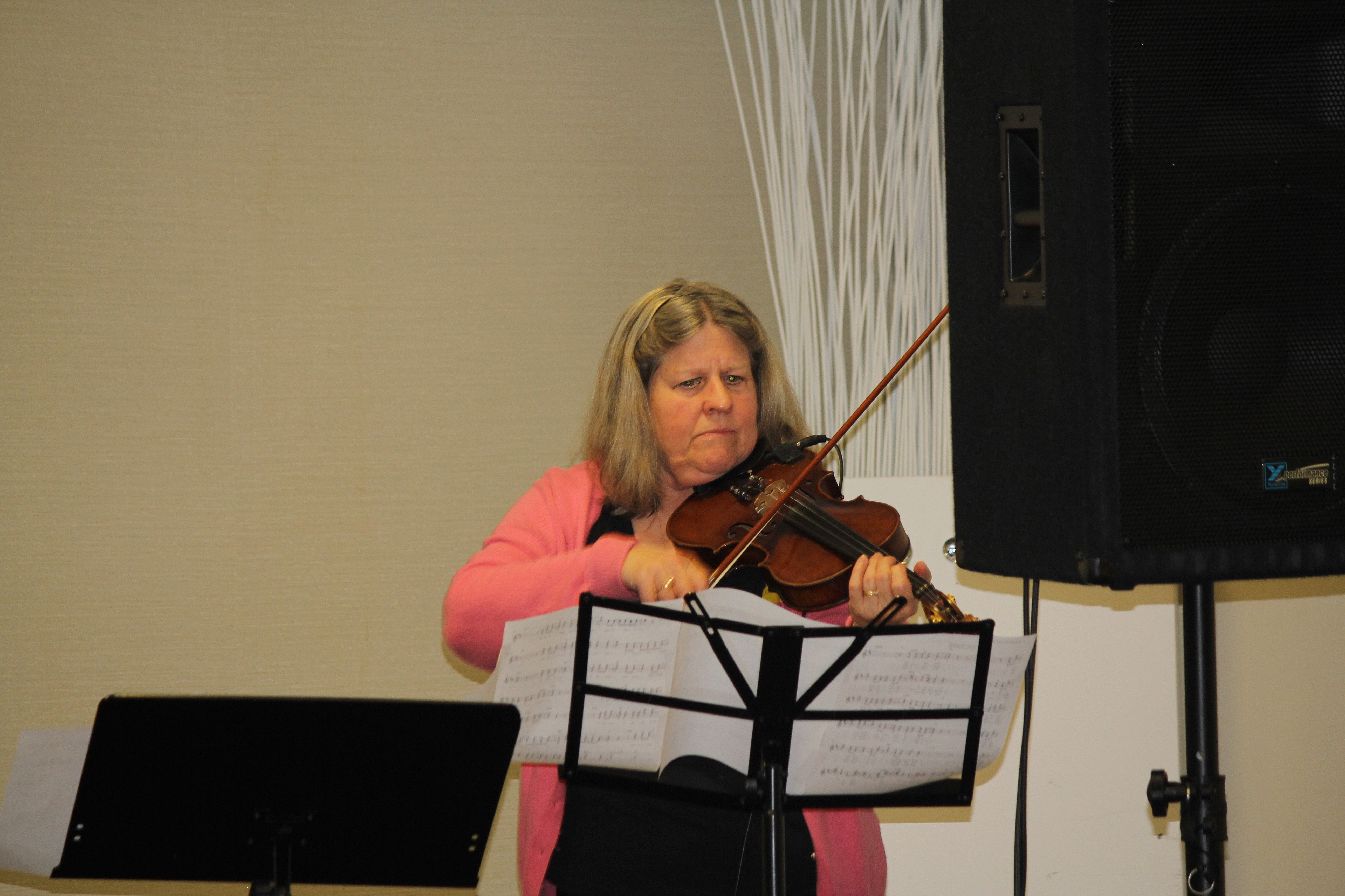 Special music - Becky on the violin