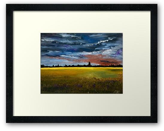 Prairie Grasses -oil on panel