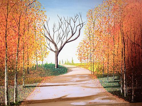 """Dark Tree in the Forest"" original oil"