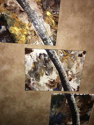 """Aspen thaw"" oil with Resin on Canvas"