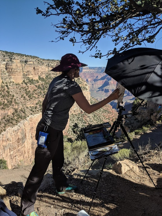 A day with the Artists -Grand Canyon  Plein Air Festival
