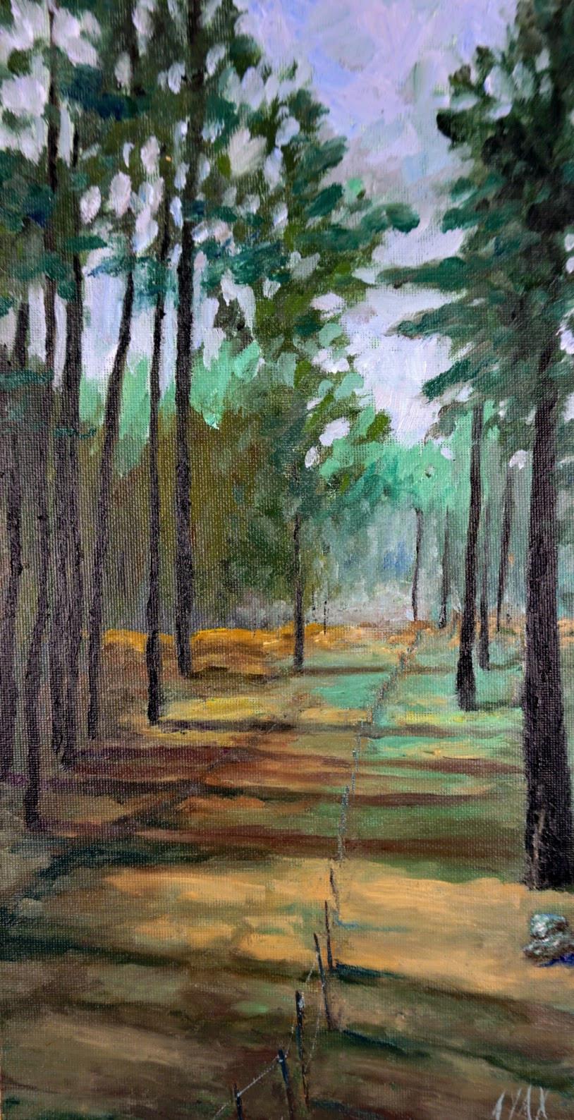 """""""Tree Fog"""" Original Oil Painting"""