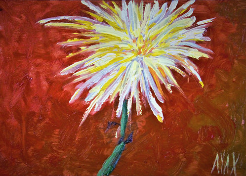 """Yellow Flower"" Original Oil"