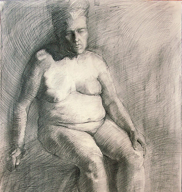 charcoal & pencil on paper A0
