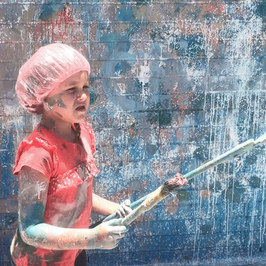 Action painting for Kids