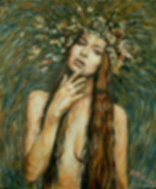 fashion beauty oil painting by akos artist melbourne