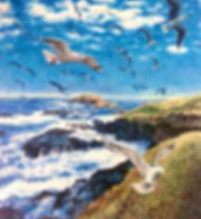 oil painting by akos artist australia phillip island