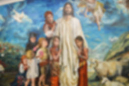 resurrection of jesus christ mural painting by akos juhasz