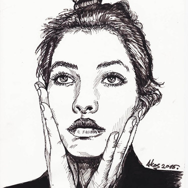 ink on paper A4