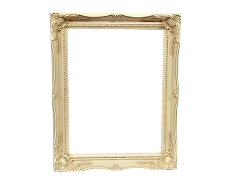 Cream Swept Frame