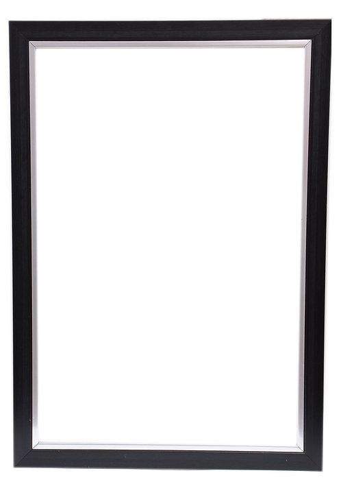 Black Silver Frame 1.5 Inch