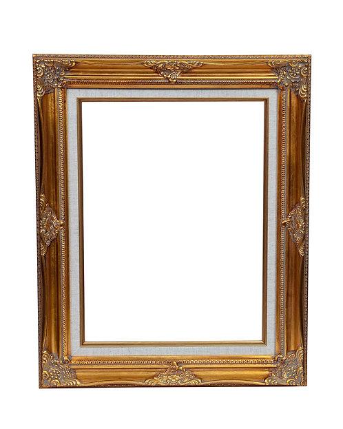 Gold Swept Linen Frame