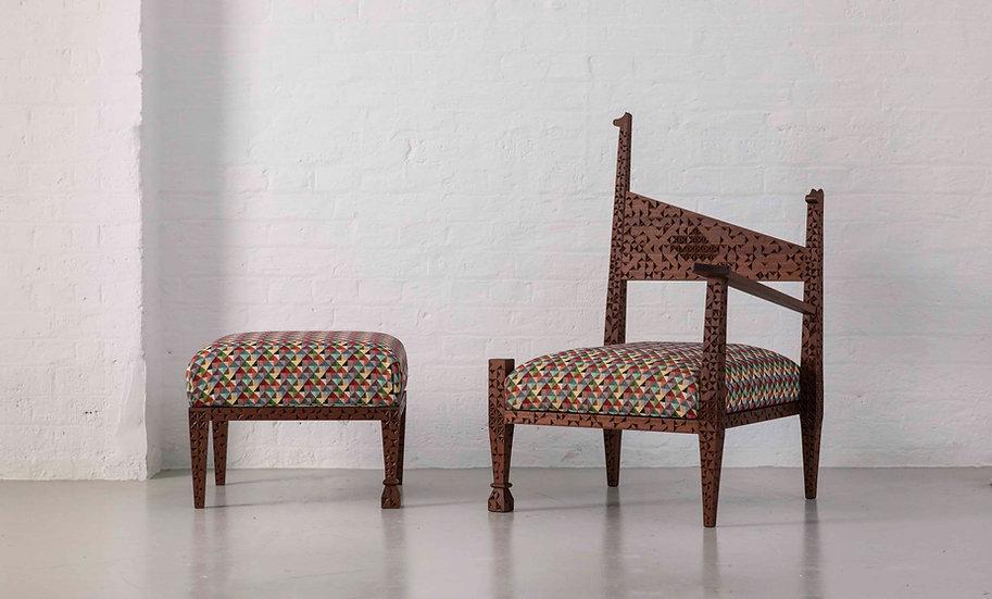 Cuneiform Chair & Ottoman