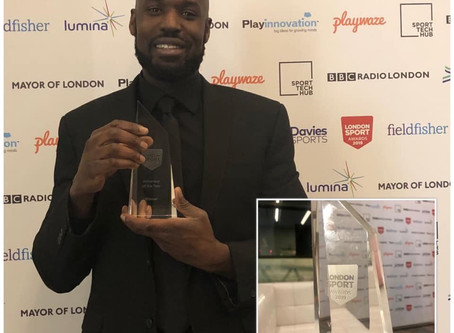 Our Coach Franck WINS 'Volunteer of the YEAR' at The 2019 London Sport Awards!