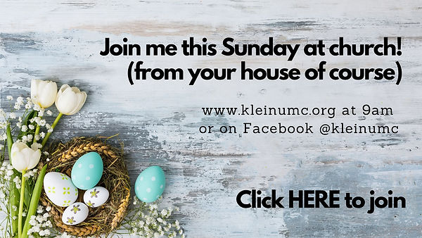 Join me this Sunday at church! (from you