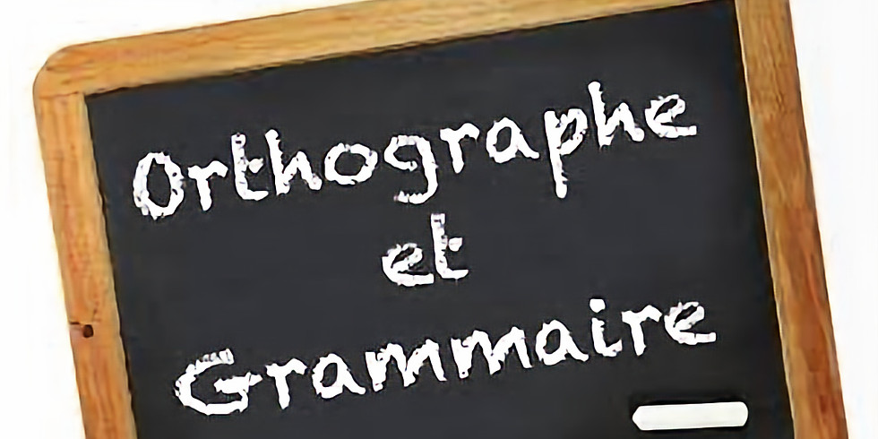 FOAD - Grammaire et orthographe - juillet