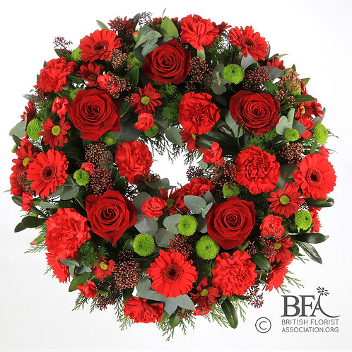 Classic Wreath in Red