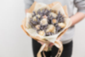 Bouquet of lavender and dry flowers. Col