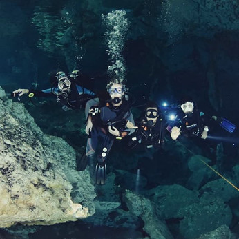 Cenote diving in Mexico with Get Wet dive shop