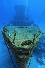 Scuba divers enjoy wreck diving at Cozumel Island, one of the best dive sites in the world