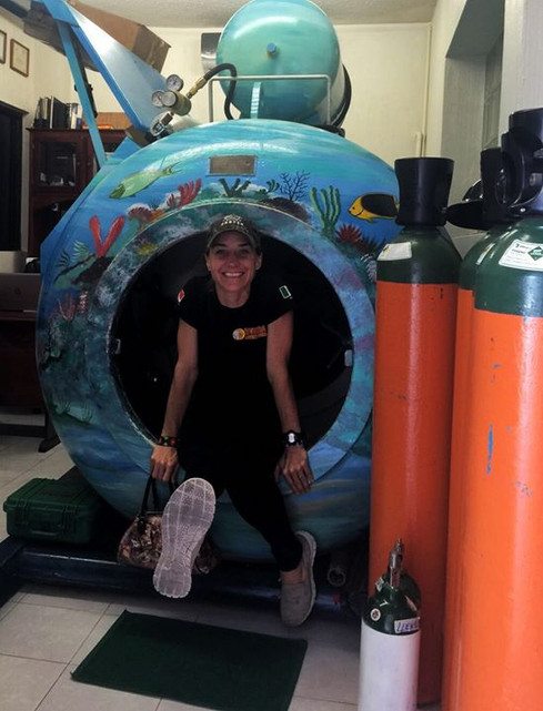 Recompression chamber in Tulum