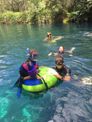 Snorkeling at casa Cenote with the whole family