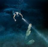 Cave diving Mexico, in cenote Arco Iris, Tulum
