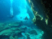 A sidemount diver in casa cenote, one of the best cenote for beginners