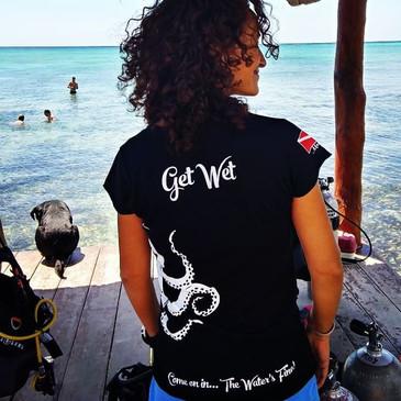Get wet dive shop shirts, Dive apparel in Mexico