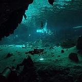 Cenote diving in Dos Ojos, near Tulum