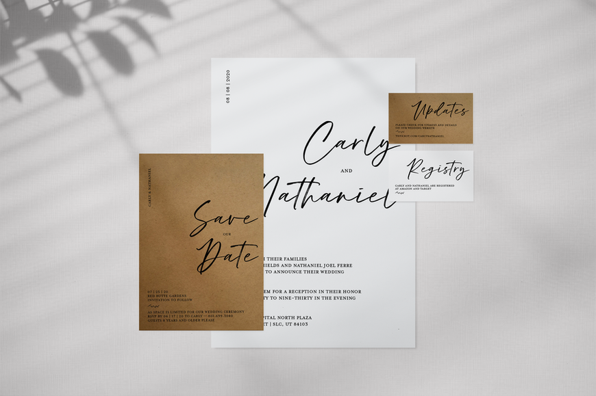 Wedding Stationary Print Design