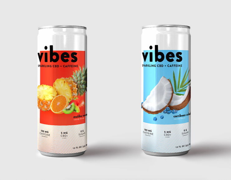 Vibes Beverages Brand & Package Design