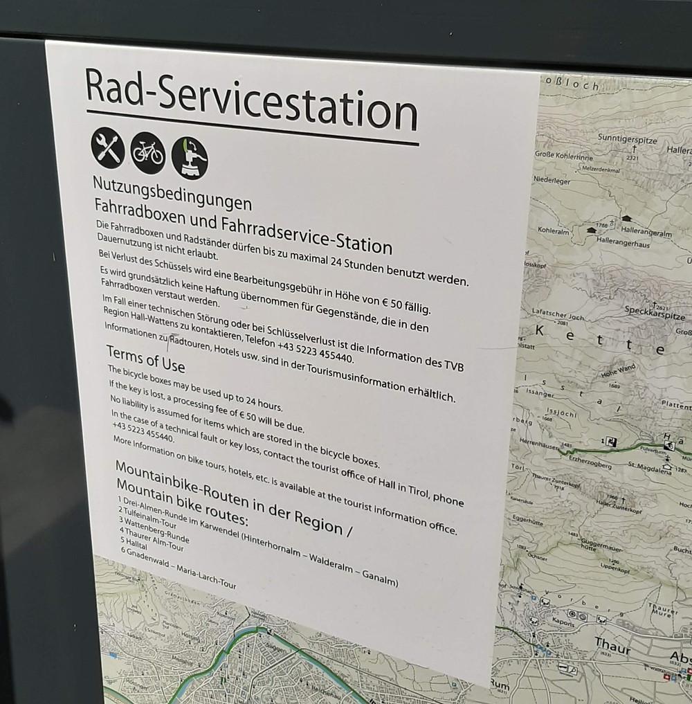 Condiciones de uso de los servicios disponibles en la estación.
