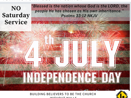 No services July 1st & July 4th