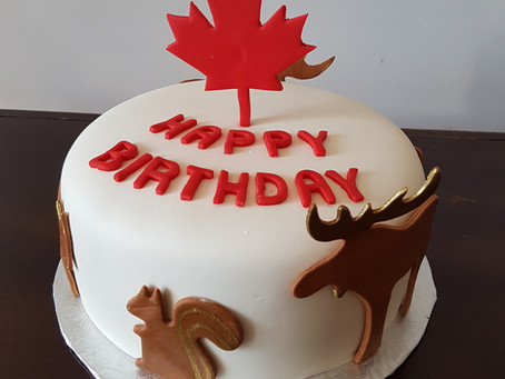 Canada Birthday Cake