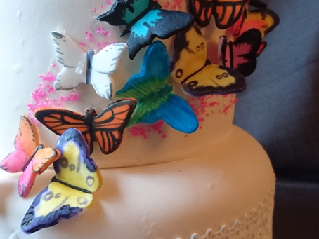 Fairy and butterfly cake